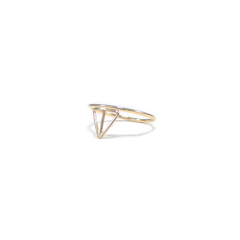 VELOS stacking ring in recycled 14K gold from MGG Studio