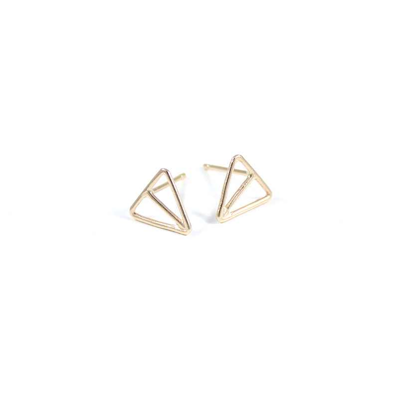 VELOS 14k stud earrings from MGG Studio