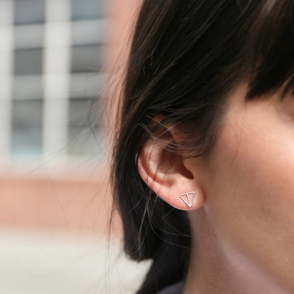 VELOS 14K studs from MGG Studio on model