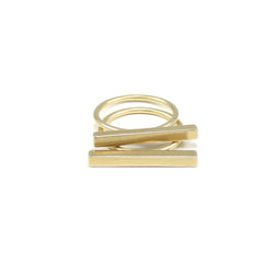 bronze bar stacking rings handmade by MGG Studio in Oakland California