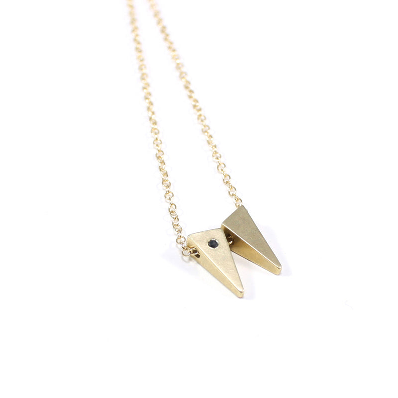 MGG Studio TESSON necklace in bronze with black diamond