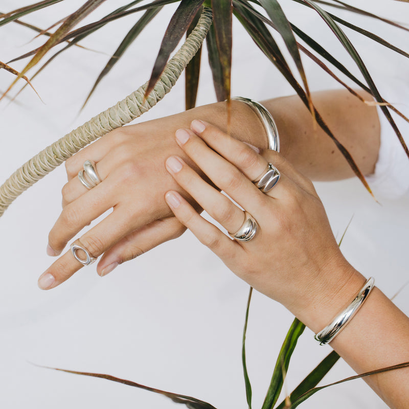 ecofriendly statement stacking rings by MGG Studio handmade in California