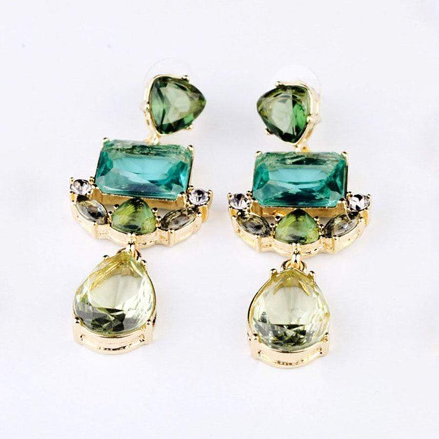 Captivating Faux Crystal Drop Earrings