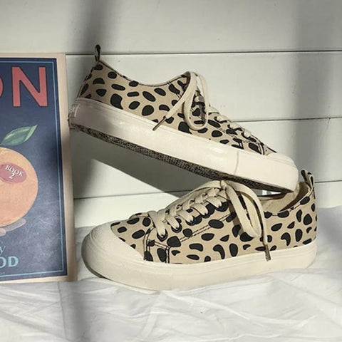 Women's Fashion Casual Personality Stone Pattern Leopard Sneakers