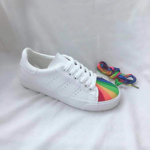 Women's Fashion Casual Rainbow Shell Toe Sneakers