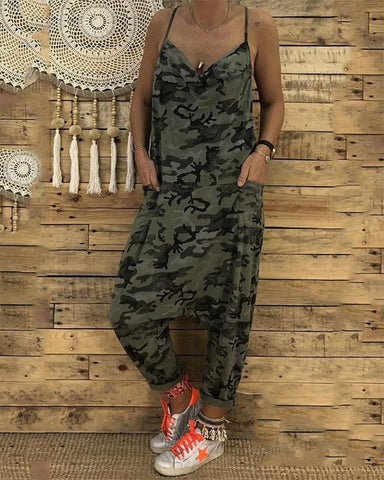 Spaghetti Strap  Cutout  Back Hole  Camouflage Common