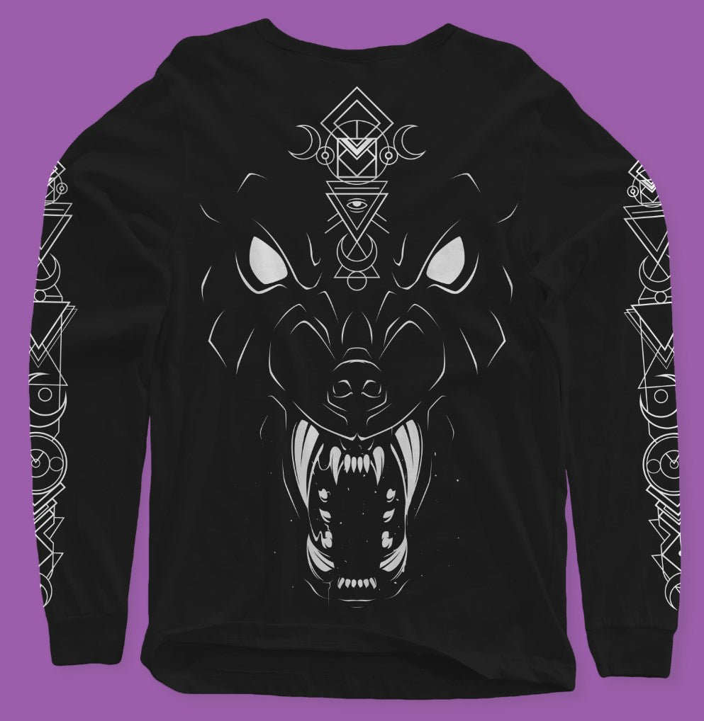 Lunacy Long Sleeve Tee (FREE HAUNTED DARK ARTS EDITION ALBUM SIGNED INCLUDED) - thedarkarts