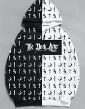Load image into Gallery viewer, NEW! Dark Arts Split Hoodie 2.0 (FREE Jack Skellington Beanie Included) - thedarkarts