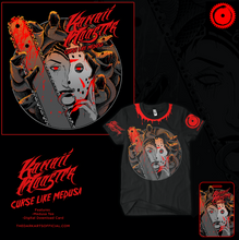 Load image into Gallery viewer, Curse Like Medusa Tee! (FREE Digital DL Card + Reign Of Terror Tee) - thedarkarts