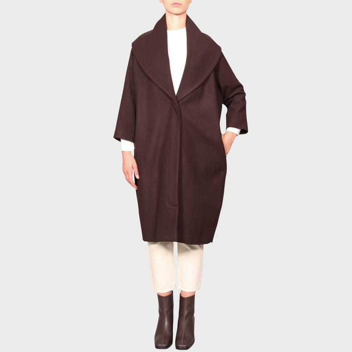 BEATRICE COAT / CHOCOLATE