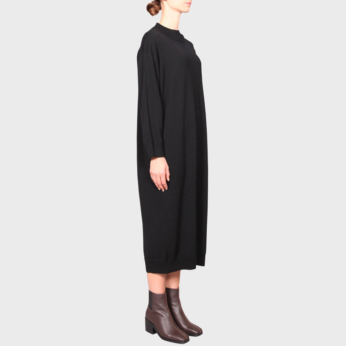 ADELAIDE KNIT DRESS / BLACK