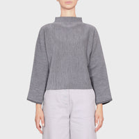BONNIE KNIT SWEAT / CHARCOAL-GREY