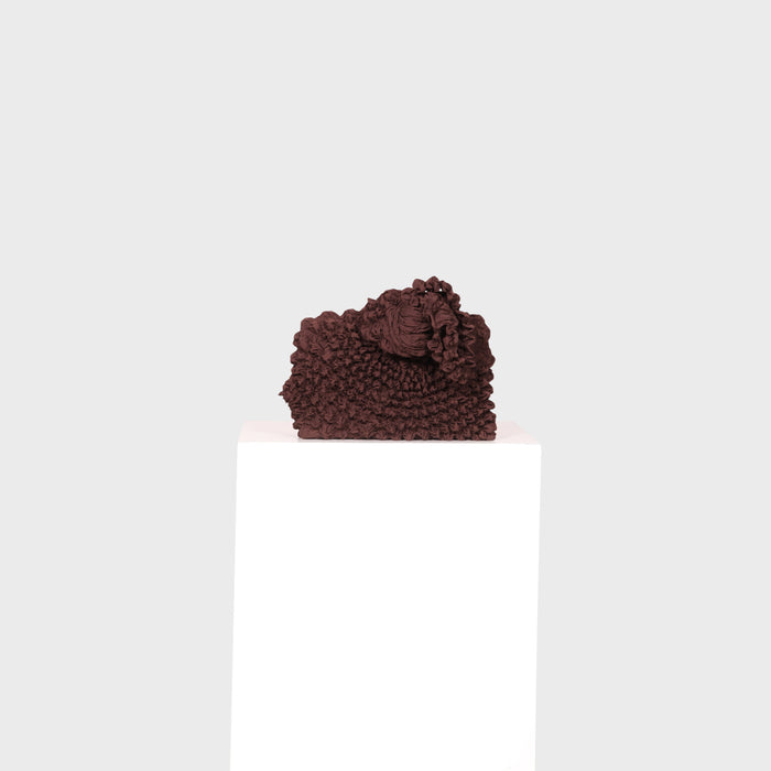 PLEATED TOTE / CHOCOLATE
