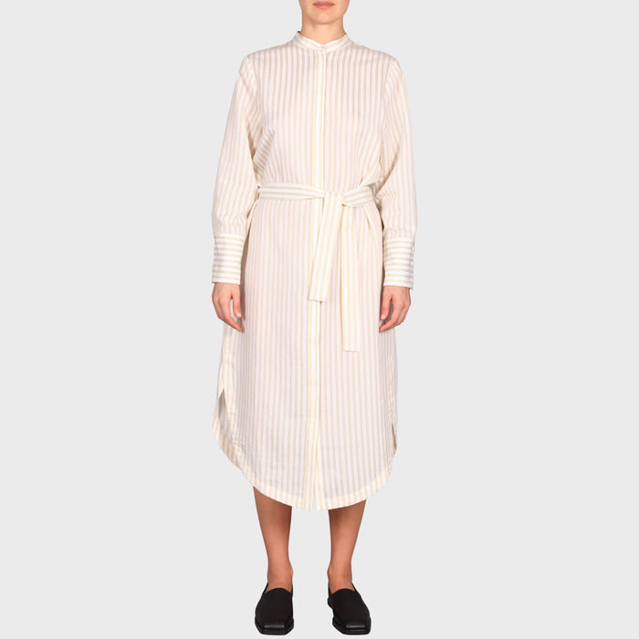 TARLA DRESS / WHITE-BEIGE