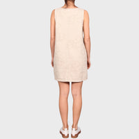 VEDA DRESS / CREAM-TAN