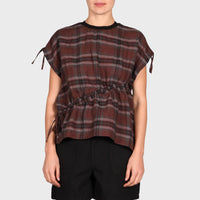 MYA TOP / BROWN-BLACK