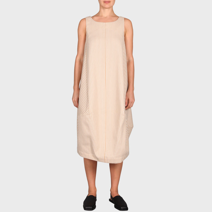NESSY DRESS / BEIGE-CREAM