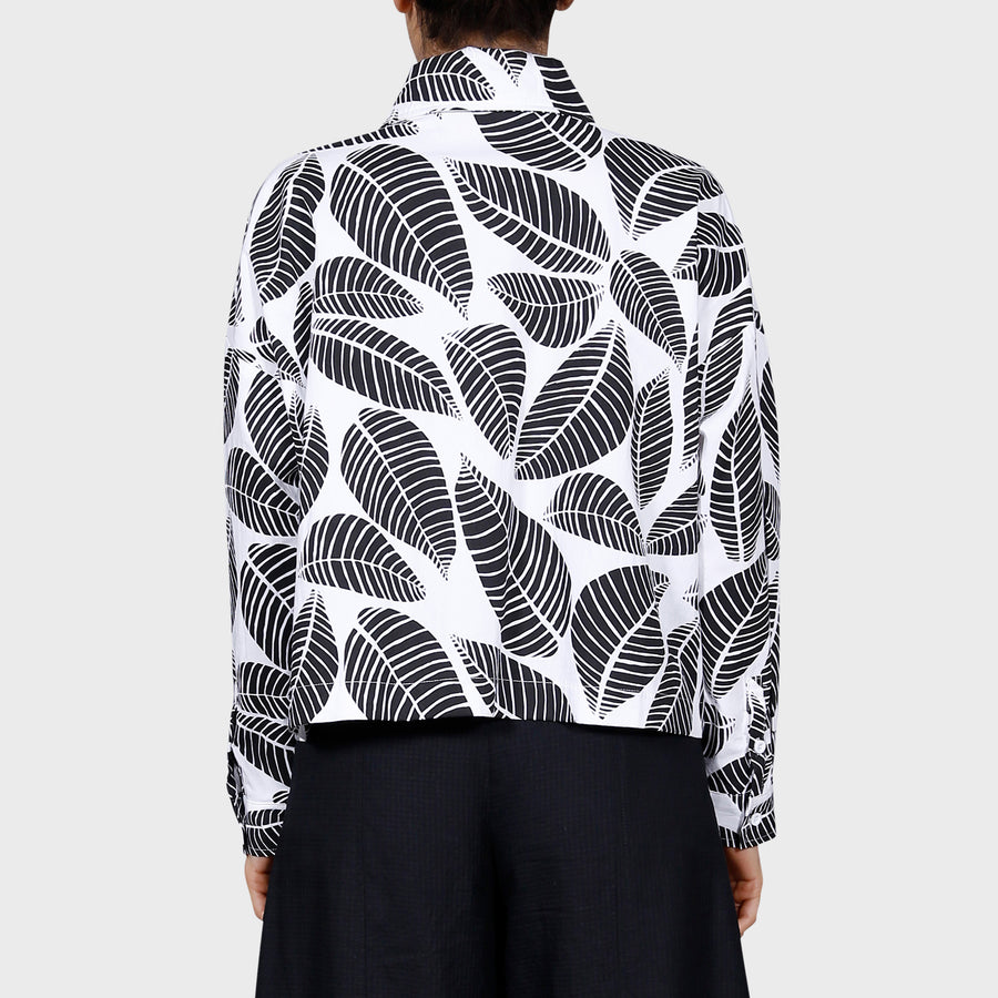 POLLI SHIRT / WHITE-BLACK