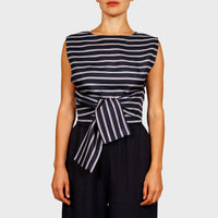 JENNA TOP / NAVY-NAVY STRIPE