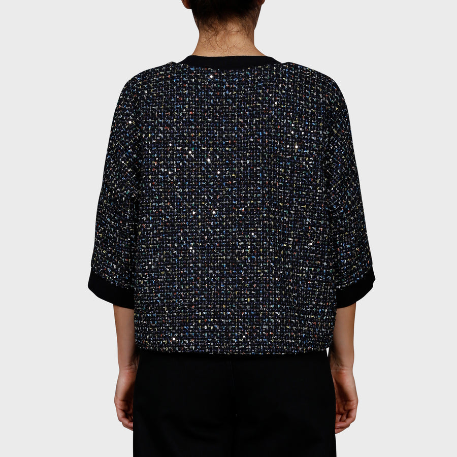 KLEINE TOP / BLACK-MULTI