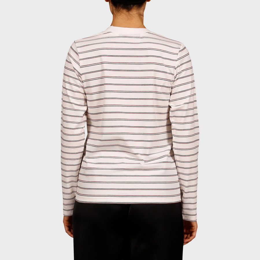 KATE LONG SLEEVE TEE / CREAM-NAVY-RED