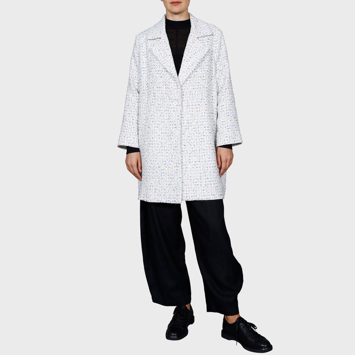 KATIE COAT / WHITE-MULTI