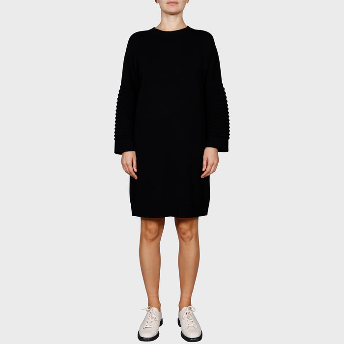 SELMA KNIT DRESS / BLACK