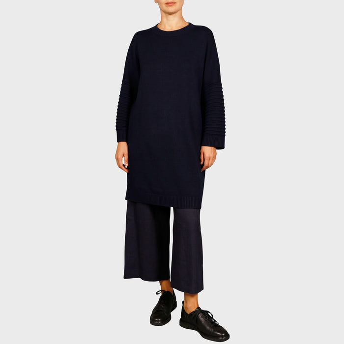 SELMA KNIT DRESS / NAVY