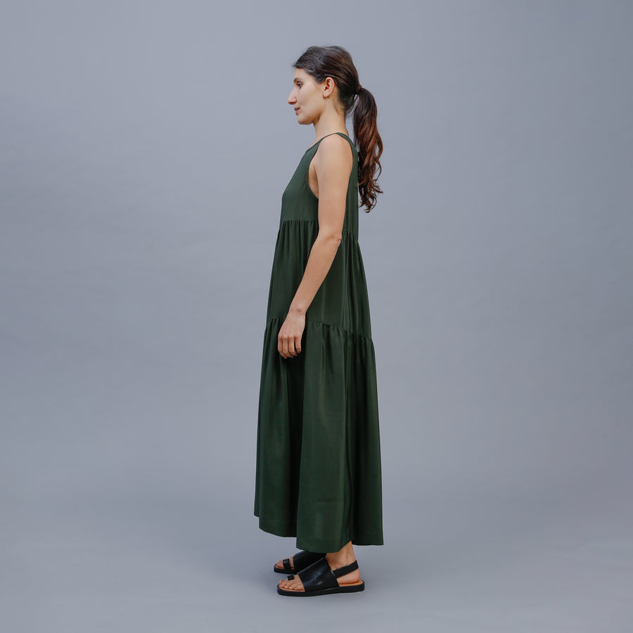 AUBREY DRESS / DARK GREEN