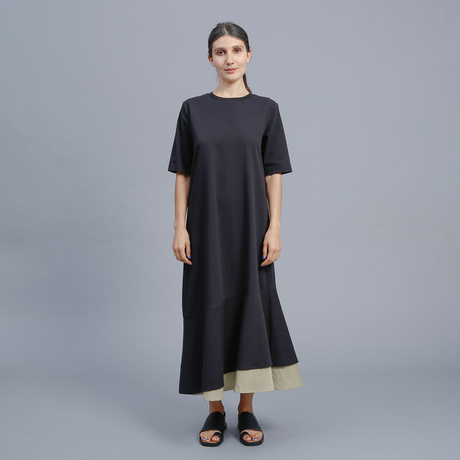 COURTNEY DRESS / BLACK-MOSS