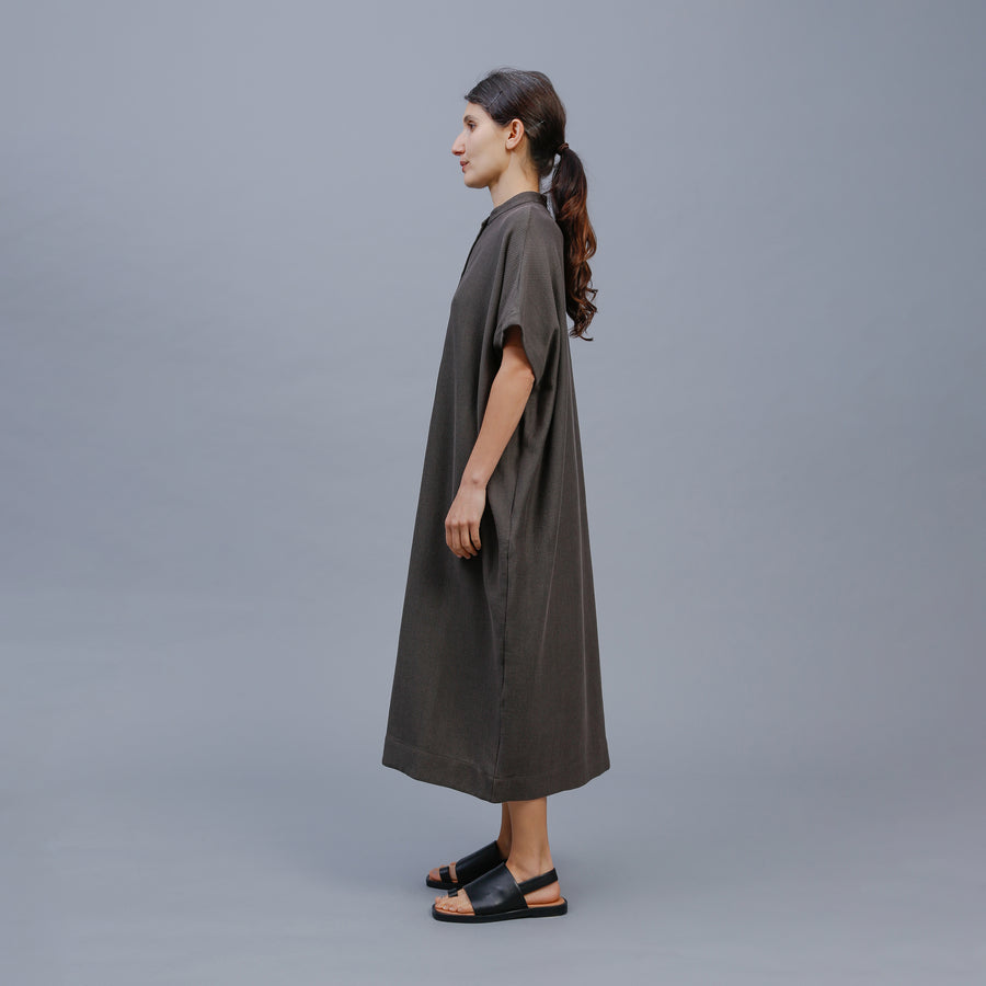 RICO DRESS / KHAKI-BLACK