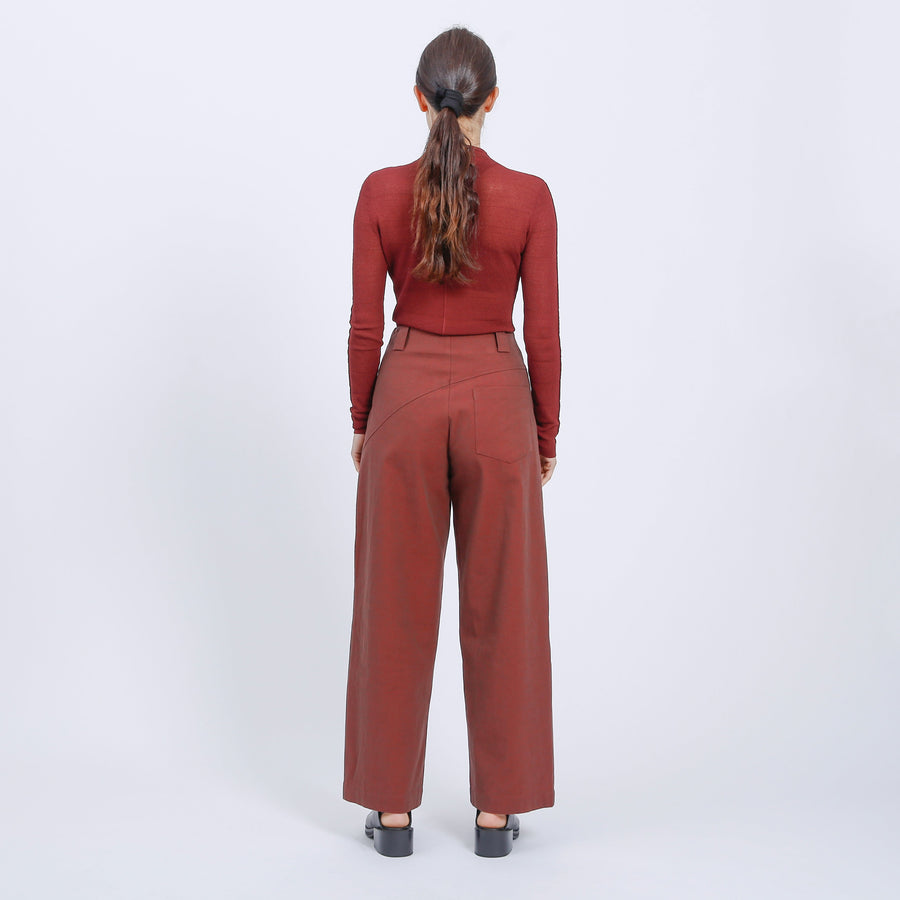 MORGAN PANT / DARK RED