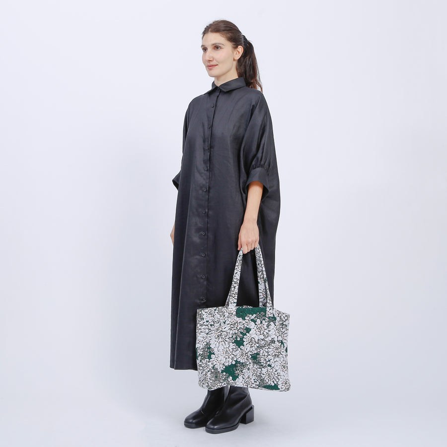 BRODY TOTE / GREEN-WHITE