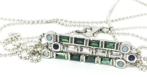 Stick Stackable Sapphire Necklace - SPACE by Leslie Beard