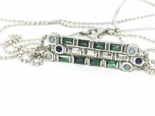 Load image into Gallery viewer, Stick Stackable Opal Necklace - SPACE by Leslie Beard