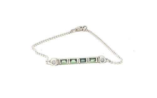 women's silver and gemstone bracelet