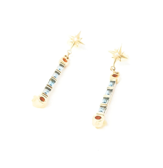 women's gold and gemstone earrings