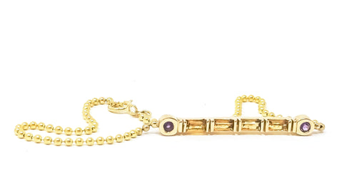 women's gold and gemstone bracelet