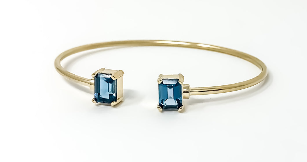 London blue topaz cuff