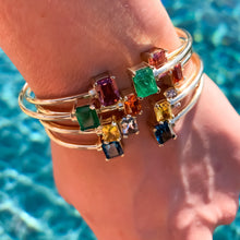Load image into Gallery viewer, Emerald cuff bracelet