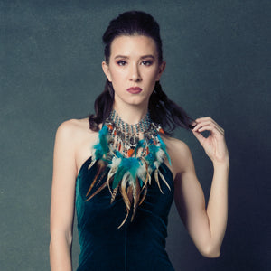 Arianna Feather Necklace