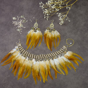 Fallon Feather Choker