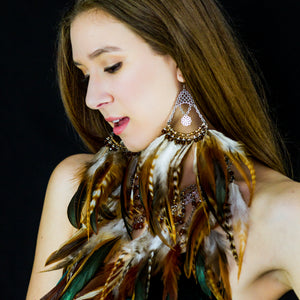 Piper Feather Chandelier Earrings