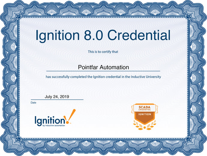 Pointfar Automation is certified Ignition Integrator