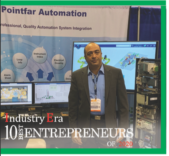Kash Behdinan President of Pointfar Automation is recognized as one the best Entrepreneur of 2020 by Industry Era