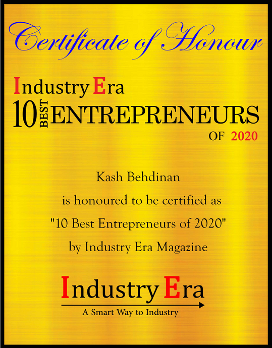 Pointfar President received Certificate of Honor for being one of 10 best Entrepreneur of 2020