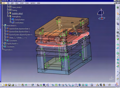 CATIA V5 -Mold Tooling Creation– MTE