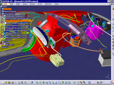CATIA V5 -Electrical Wire Harness Design WHX