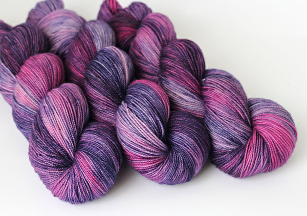 Blackcurrant Jam ~ Trust ~ High Twist Merino Nylon Sock