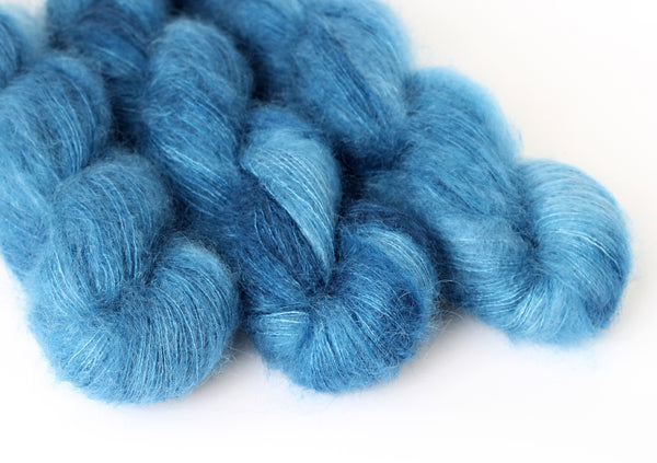 Blue Steel ~ Halo ~ Mohair Kidsilk Fluff